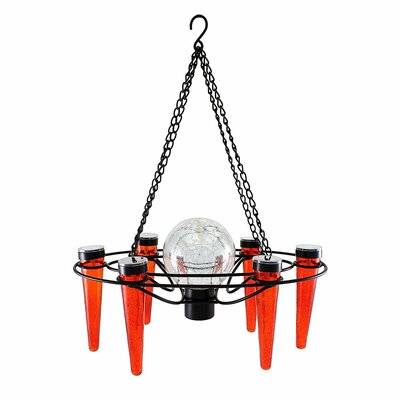 Demi 6-Light Mini Chandelier Bulb Color: Red