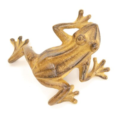 ACHLA Jumping Frog Statue Color: Tawny