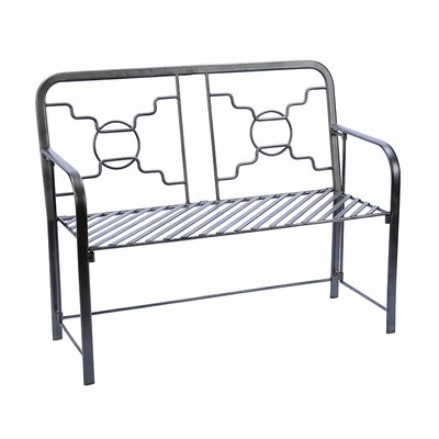 Pangaea Folding Contemporary Iron Garden Bench | Wayfair