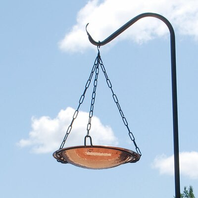 Crackle Hanging Bird Bath Color: Copper