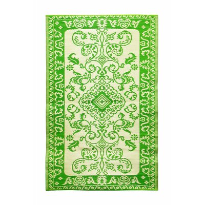 Tracery Kitchen Mat Color: Lime