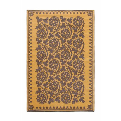 Cinquefoil Kitchen Mat Color: Cinnamon