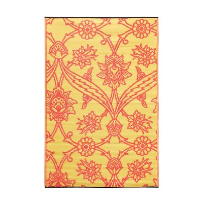 Flowers Kitchen Mat Color: Persimmon