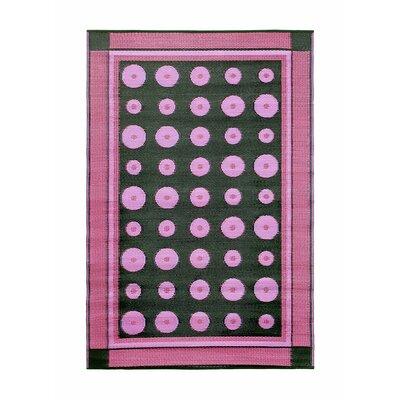 Dots Doormat Color: Berry
