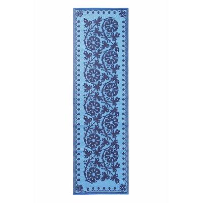 Cinquefoil Doormat Color: Navy