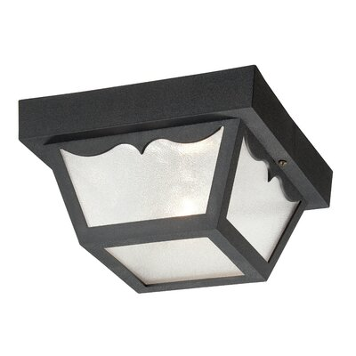 Durex 1-Light Flush Mount Finish: Matte Black