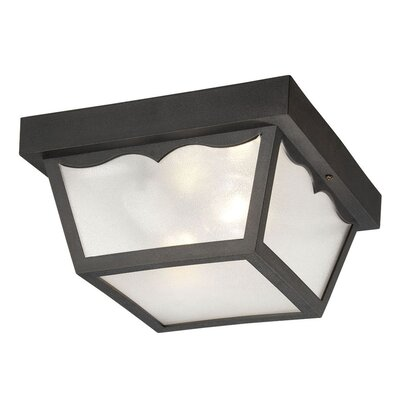 Rafferty 2-Light Flush Mount Finish: Matte Black