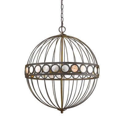 Aria 6-Light Globe Pendant Finish: Oil Rubbed Bronze