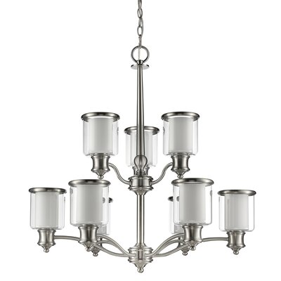 Mcduffy 9-Light Shaded Chandelier