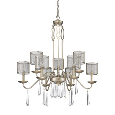 Keene 9-Light Shaded Chandelier