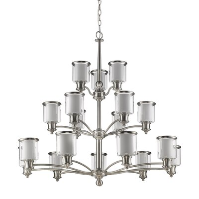 Inglesbatch 18-Light Shaded Chandelier
