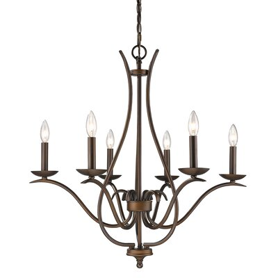 Genevieve 6-Light Candle-Style Chandelier Finish: Oil Rubbed Bronze