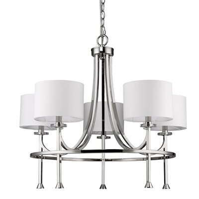 Vanegas 5-Light Drum Chandelier Finish: Polished Nickel
