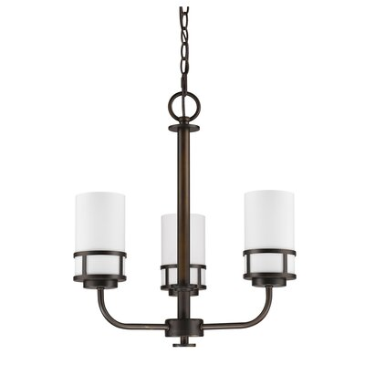 Mcduff 3-Light Shaded Chandelier Finish: Oil Rubbed Bronze