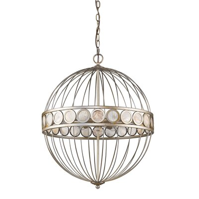 Aria 6-Light Globe Pendant Finish: Antique Silver