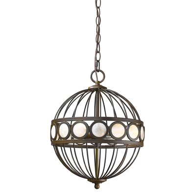 Aria 3-Light Globe Pendant Finish: Oil Rubbed Bronze