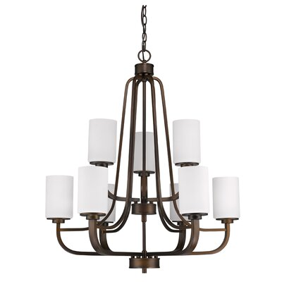 Vanetten 9-Light Shaded Chandelier Finish: Oil Rubbed Bronze