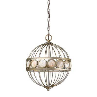 Aria 3-Light Globe Pendant Finish: Antique Silver