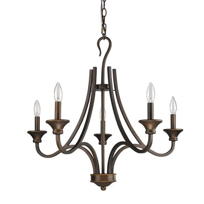 Michelle 5-Light Candle-Style Chandelier Finish: Oil Rubbed Bronze