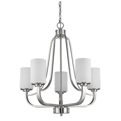 Addison 5-Light Shaded Chandelier Finish: Satin Nickel