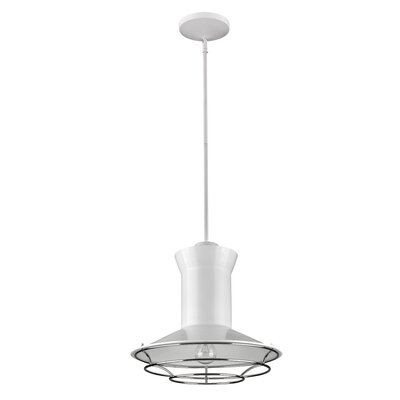 Crespin 1-Light Mini Pendant Finish: White