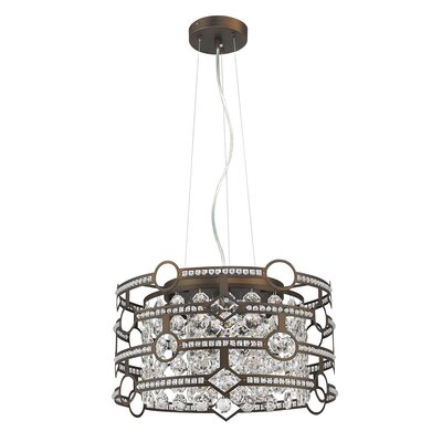 Meghan 5-Light Drum Pendant Finish: Oil Rubbed Bronze