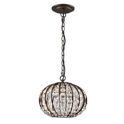 Kegler 1-Light Globe Pendant Finish: Oil Rubbed Bronze
