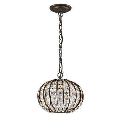 Olivia 1-Light Globe Pendant Finish: Oil Rubbed Bronze