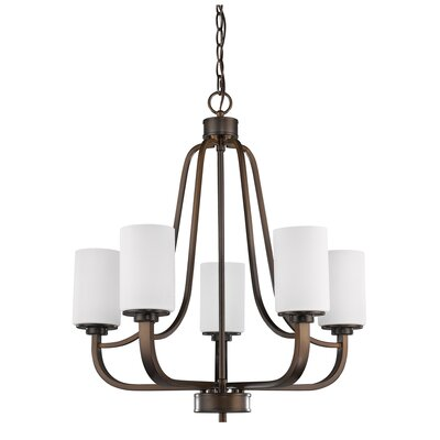 Addison 5-Light Shaded Chandelier Finish: Oil Rubbed Bronze