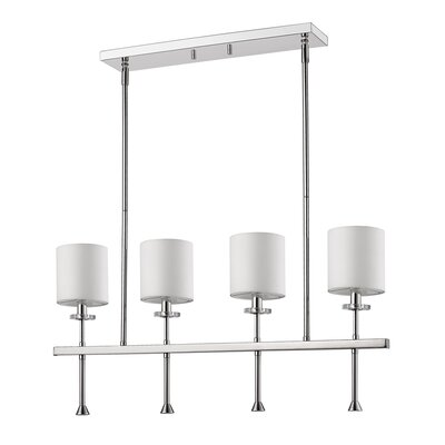 Vanegas 4-Light Kitchen Island Pendant Base Finish: Polished Nickel