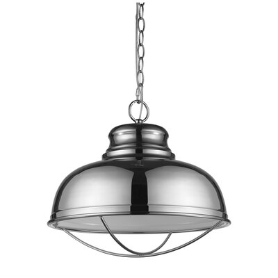 Crepeau 1-Light Bowl Pendant Color: Polished Nickel