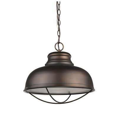 Crepeau 1-Light Bowl Pendant Color: Oil Rubbed Bronze