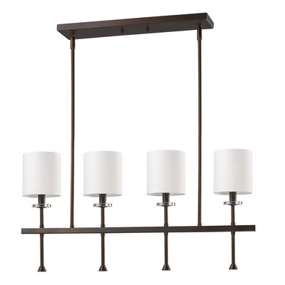 Vanegas 4-Light Kitchen Island Pendant Base Finish: Oil Rubbed Bronze