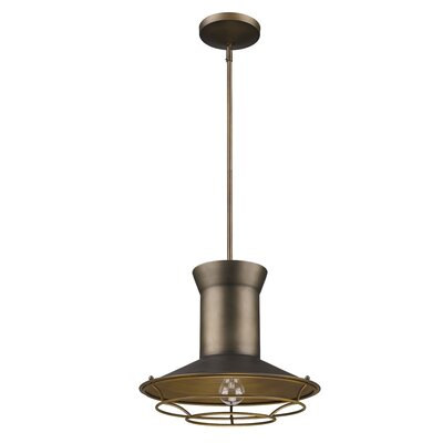 Crespin 1-Light Mini Pendant Color: Tin Coated