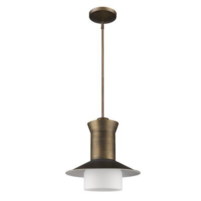 Chew Stoke 1-Light Mini Pendant Base Finish: Raw Brass