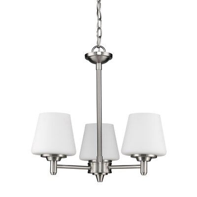 Vangundy 3-Light Shaded Chandelier