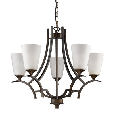 Vangorder 5-Light Shaded Chandelier Finish: Oil Rubbed Bronze