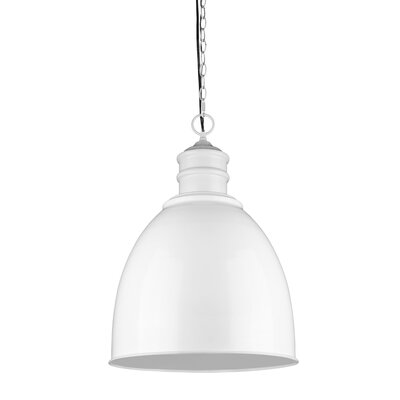 Colby 1-Light Bowl Pendant Finish: White
