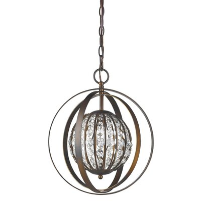 Kegler 1-Light Globe Pendant Finish: Oil Rubbed Bronze, Size: 16 H x 13 W x 13 D
