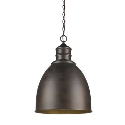 Colby 1-Light Bowl Pendant Finish: Oil Rubbed Bronze
