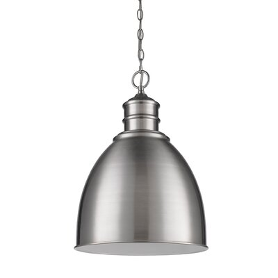 Colby 1-Light Bowl Pendant Finish: Satin Nickel