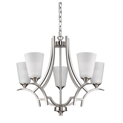 Vangorder 5-Light Shaded Chandelier Finish: Satin Nickel
