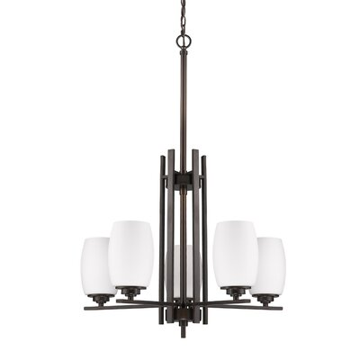 Vanfleet 5-Light Shaded Chandelier Finish: Oil Rubbed Bronze