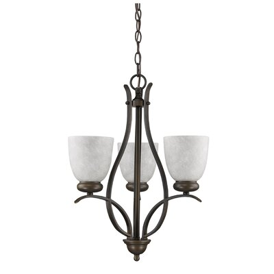 Alana 3-Light Shaded Chandelier
