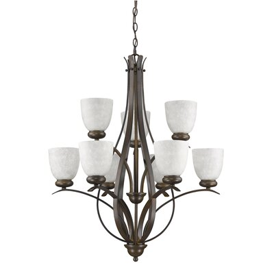Alana 9-Light Shaded Chandelier