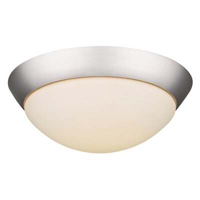 Viviano 2-Light Flush Mount Base Finish: Satin Nickel, Bulb Type: 18W LED
