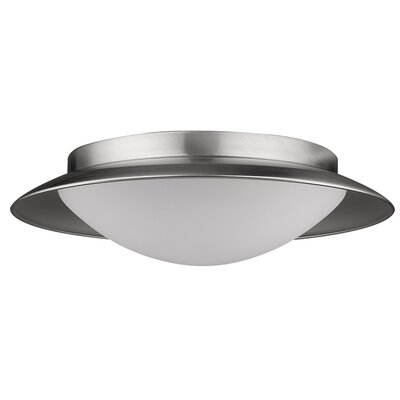 Aurora Flush Mount Base Finish: Satin Nickel