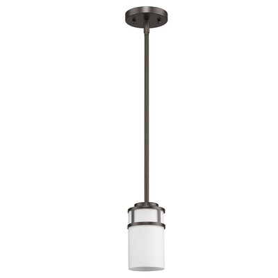 Mcduff 1-Light Mini Pendant Base Finish: Oil Rubbed Bronze