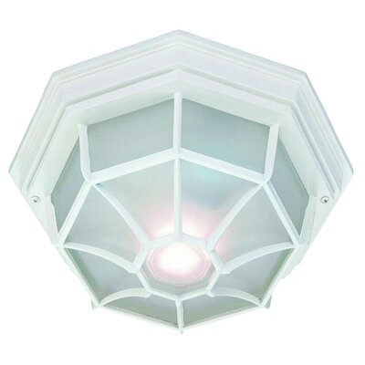 Hickmon 2-Light Flush Mount Finish: Textured White