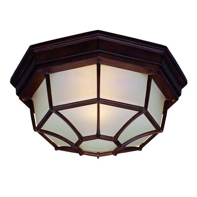 2-Light Flush Mount Finish: Burled Walnut